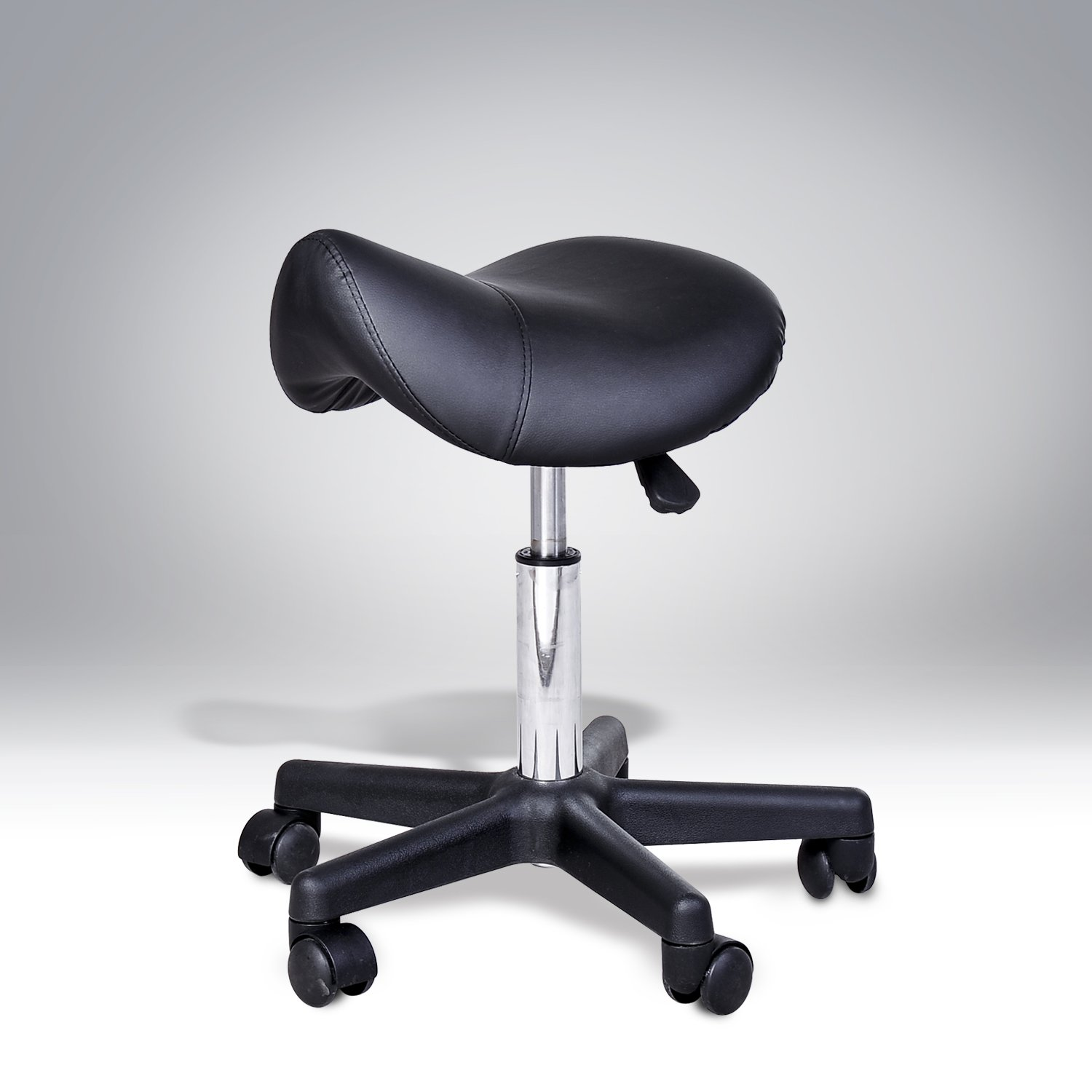 homcom massage beauty therapy gas stool height adjustable saddle