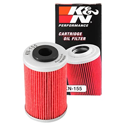 K&N Motorcycle Oil Filter: High Performance, Premium, Designed to be used with Synthetic or Conventional Oils: Fits Select KTM, Husqvarna Vehicles, KN-155: Automotive