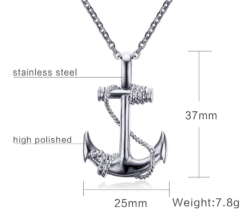 Anhänger Anker Steuerrad Ruder Anchor Halskette Lederkette Kugelkette Herren