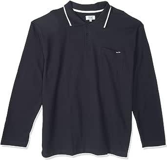 Oaks Valley Full Sleeve Polos Shirt for Men, Size XL, Black