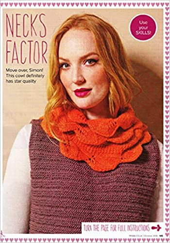 Prima Debbie Bliss Knitting Pattern Cowl Scarf Size Approx 15 X