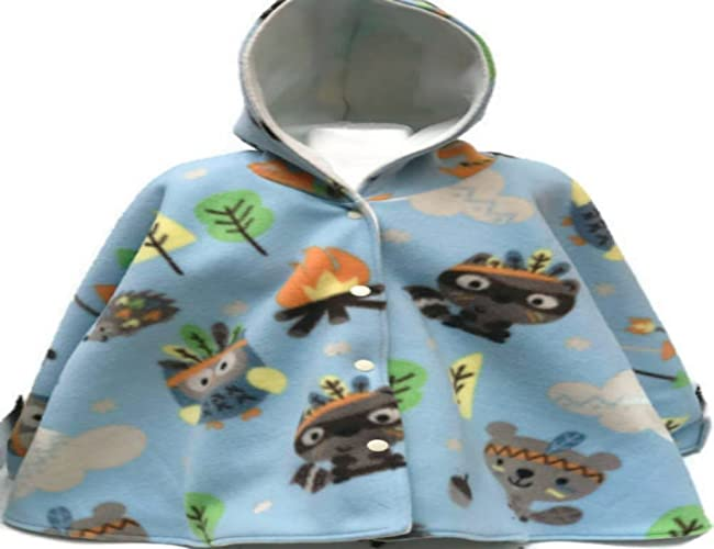 Woodland Animals Baby Or Toddler Fleece Car Seat Poncho
