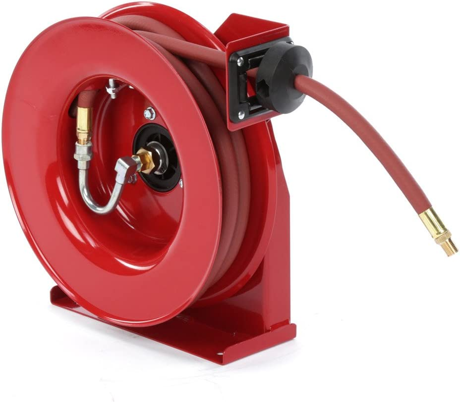 Reelcraft 4435 OLP 1/4-Inch by 35-Feet Spring Driven Hose Reel for Air and Water