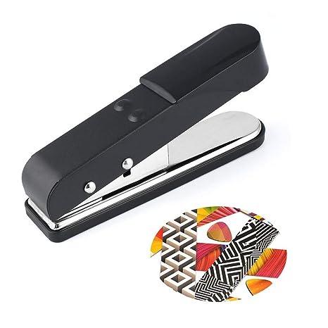 DIY Guitar Pick Punch Selecciones de guitarra Maker Cutter DIY Press Machine - Negro