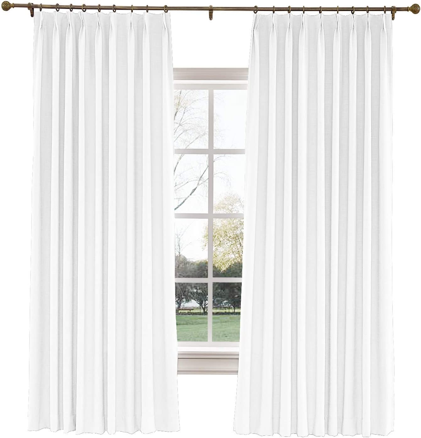 Living Room Curtains Lined Drapery Panels Black Window Curtains Grommet Curtains Window Panels Pleated Bedroom Curtains Grommet Panels