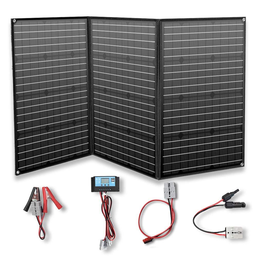 YUANFENGPOWER Panel solar flexible de 150w 12v módulo monocristalino con controlador solar de 20 A para barcos, automóviles, campamentos, autocaravanas, baterías de 12 voltios (150)