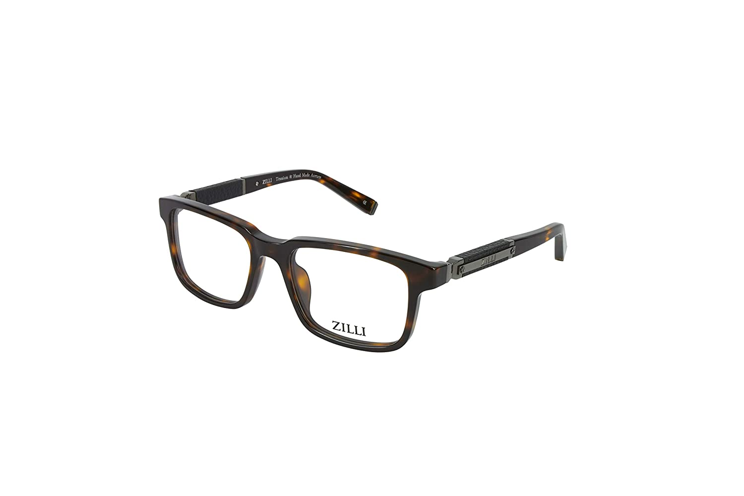 a33bed49db7 Amazon.com  ZILLI Luxurious Eyewear ZI 60004 56-19-140 Made with Crocodile  Leather and Titanium HAND MADE IN FRANCE Black 24K Gold Plated (C01)   Clothing