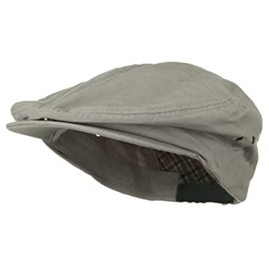 f234d695e2831 Oversize Washed Canvas Ivy Cap - Light Grey (for Big Head) at Amazon Men s  Clothing store  Newsboy Caps