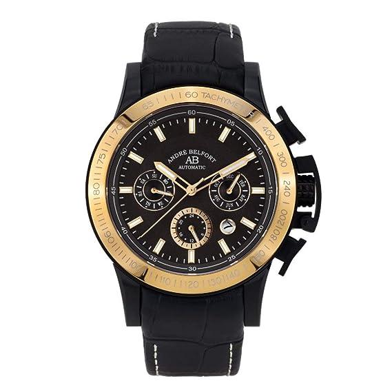 André Belfort Reloj Analógico para Hombre de Automático con Correa en Cuero 410318: Amazon.es: Relojes