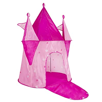 POCO DIVO Swan Castle Princess Dream House Girls Pink Toy Palace Play Tent Kids Indoor Outdoor Playhouse: Toys & Games