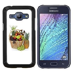 YiPhone /// Prima de resorte delgada de la cubierta del caso de Shell Armor - Naturaleza Hermosa Forrest Verde 81 - Samsung Galaxy J1 J100