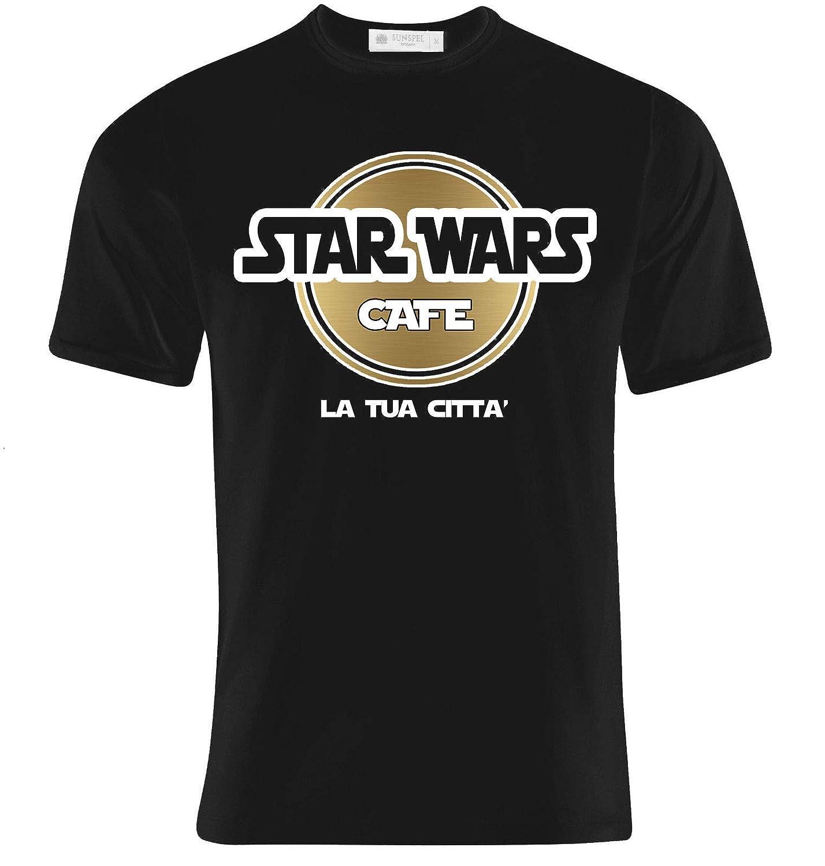 scrivi la citt/à che vuoi! T-shirt uomo Star Wars Cafe Hard Rock inspired