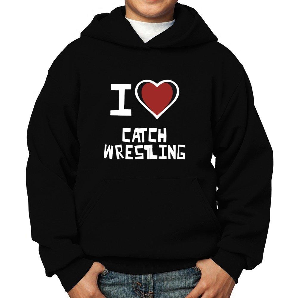 Teeburon I Love Catch Wrestling Boy Hoodie