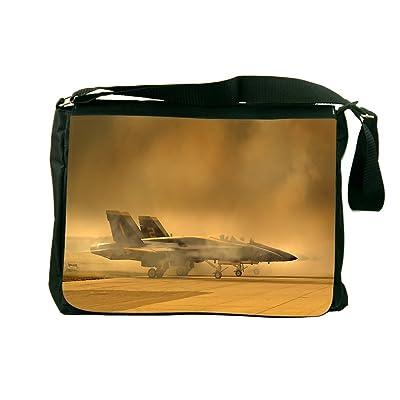 Rikki Knight Fighter Planes Design Messenger Bag - Shoulder Bag - School Bag for School or Work
