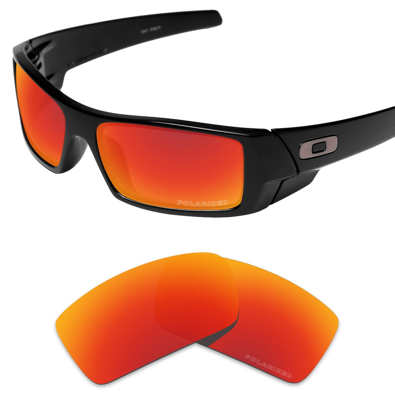 Tintart Performance Replacement Lenses for Oakley Gascan Sunglass Polarized Etched-Fire Red by Tintart