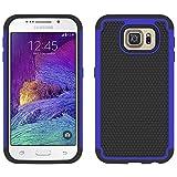 Galaxy S6 Case - Armatus Gear (TM) Slim Defender Duo Layer Hybrid Armor Case Impact Resistant Protector Cover For Samsung Galaxy S6 - Dark Blue/Black