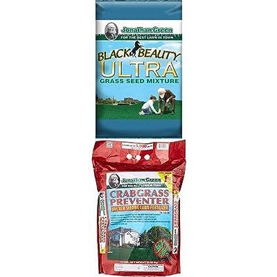 Jonathan Green 10322 Black Beauty Ultra Grass Seed Mix, 7 Pounds and Crabgrass Preventer : Garden & Outdoor