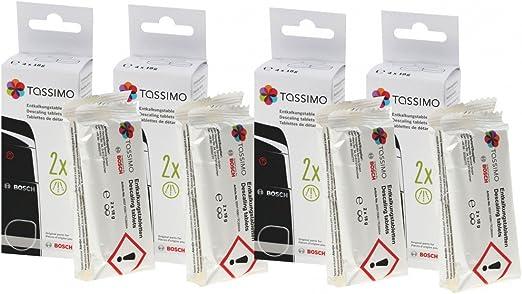 4x Bosch Siemens Descalcificador de pastillas de café Tassimo 311530 00311530 TCZ6004: Amazon.es: Hogar