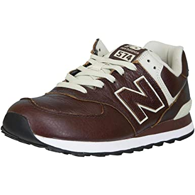 New Balance Sneaker 574 Leder/Synthetik braun 45: Amazon.de: Bekleidung