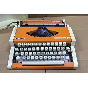 Máquina de escribir años 80 Vintage Antique Metal Shell Vintage Inglés Typing Function Normal Use