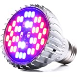 LONGKO 30W Full Spectrum Led Grow Light Bulb E27 Growing Plant Light Lamp for Indoor Garden Greenhouse Hydroponic