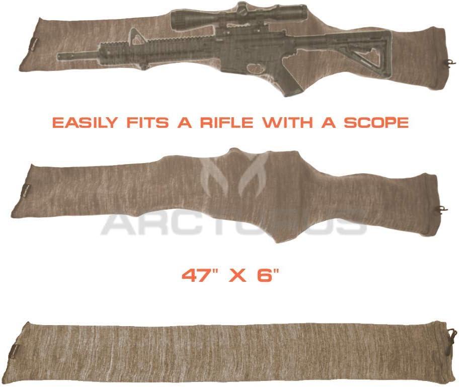 Tourbon Silicone Pistol Gun Sock 5 Pack Tactical Handgun Sock Gun Sleeve Lot