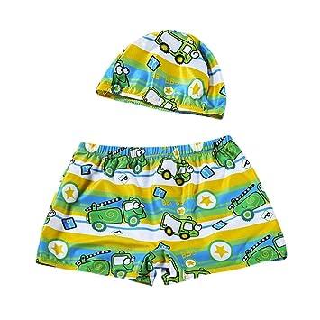 Niños Baby Boys Stretch Badeanzüge Bañador Pantalones Cortos + sombrero juego activo/Toalla/poliéster/carácter/okzident 140 Sexy Grün🐠: Amazon.es: Hogar