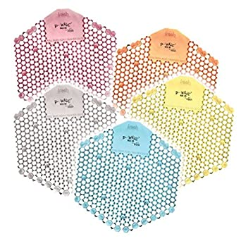 Pack of 10 P-Wave WZDS10MG Hex 3D Extra Urinal Freshener//Deodoriser with 2 Sides Mango