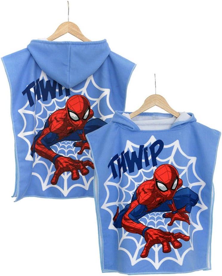 Kisen/è Accappatoio Poncho Spiderman Marvel Bambino Taglia Unica S561