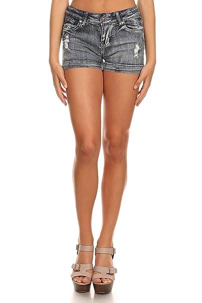 Amazon.com: Kaba Jeans - Pantalones cortos para mujer con ...