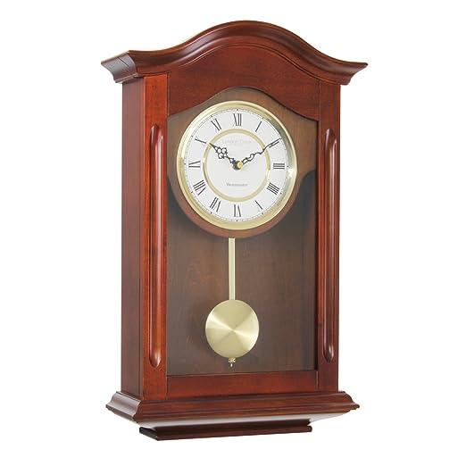 3 opinioni per London Clock 25054- Orologio a pendolo da parete, finitura in noce, con rintocco
