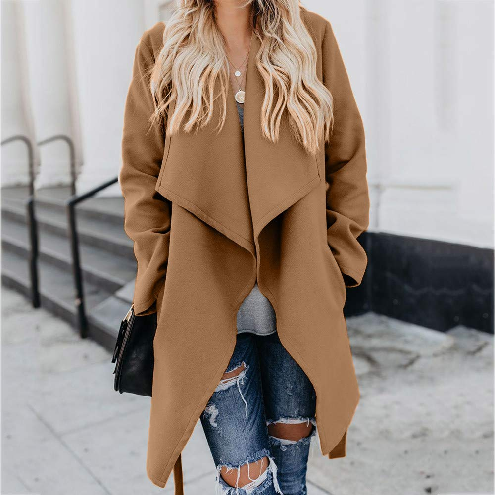 Amazon.com: Besde Womens Clearance Lapel Wool Trench Jacket Long Sleeve Solid Button Overcoat Outwear: Baby