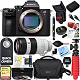 Sony a7R III Full-frame Mirrorless Interchangeable Lens 42.4MP Camera Body + 100-400mm Super Telephoto Zoom Lens Accessory Bundle