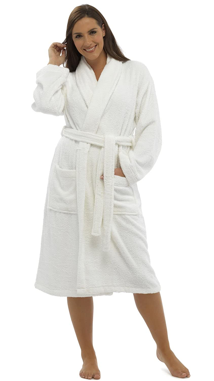 Womens/Ladies Nightwear/Sleepwear Long Sleeve Towelling Bath Robe/Dressing Gown, Various Colours & Sizes
