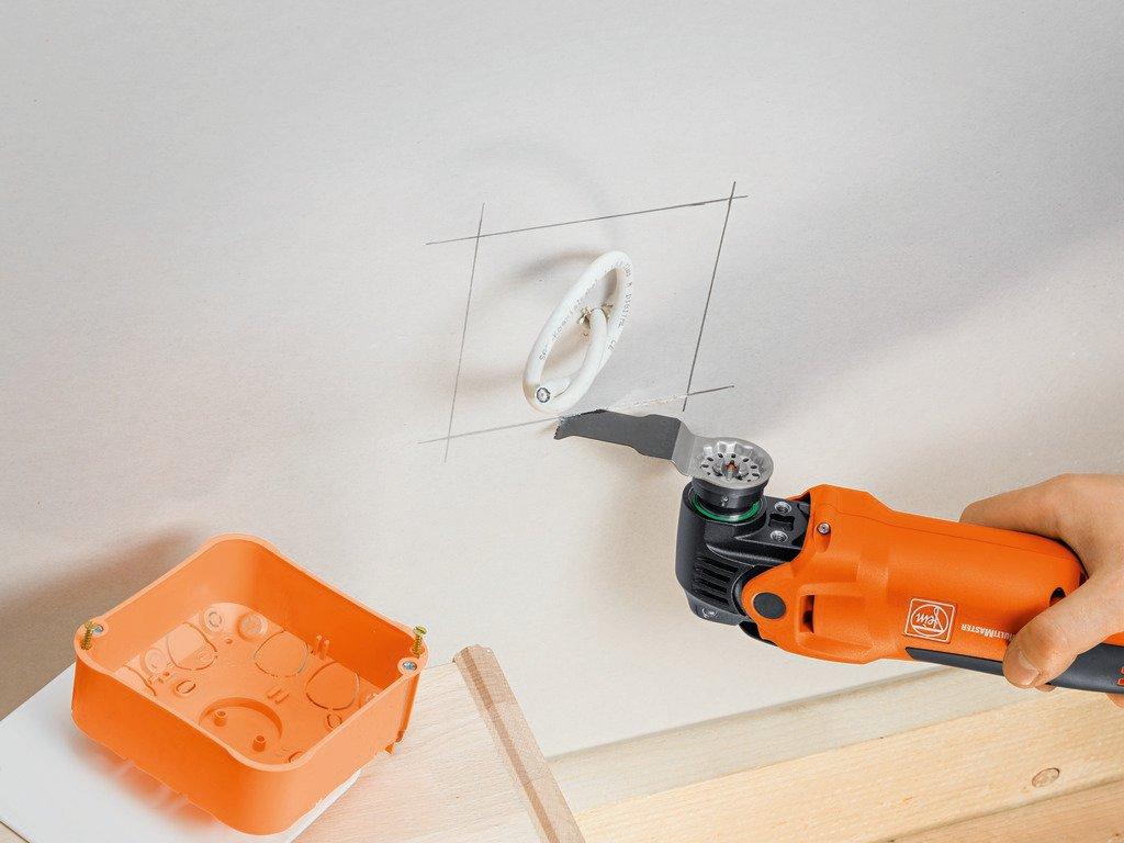 Fein 63502161220 E-Cut Set de 3 Lames de scie Longlife BIM//porte-outil SLP 50 x 65 mm