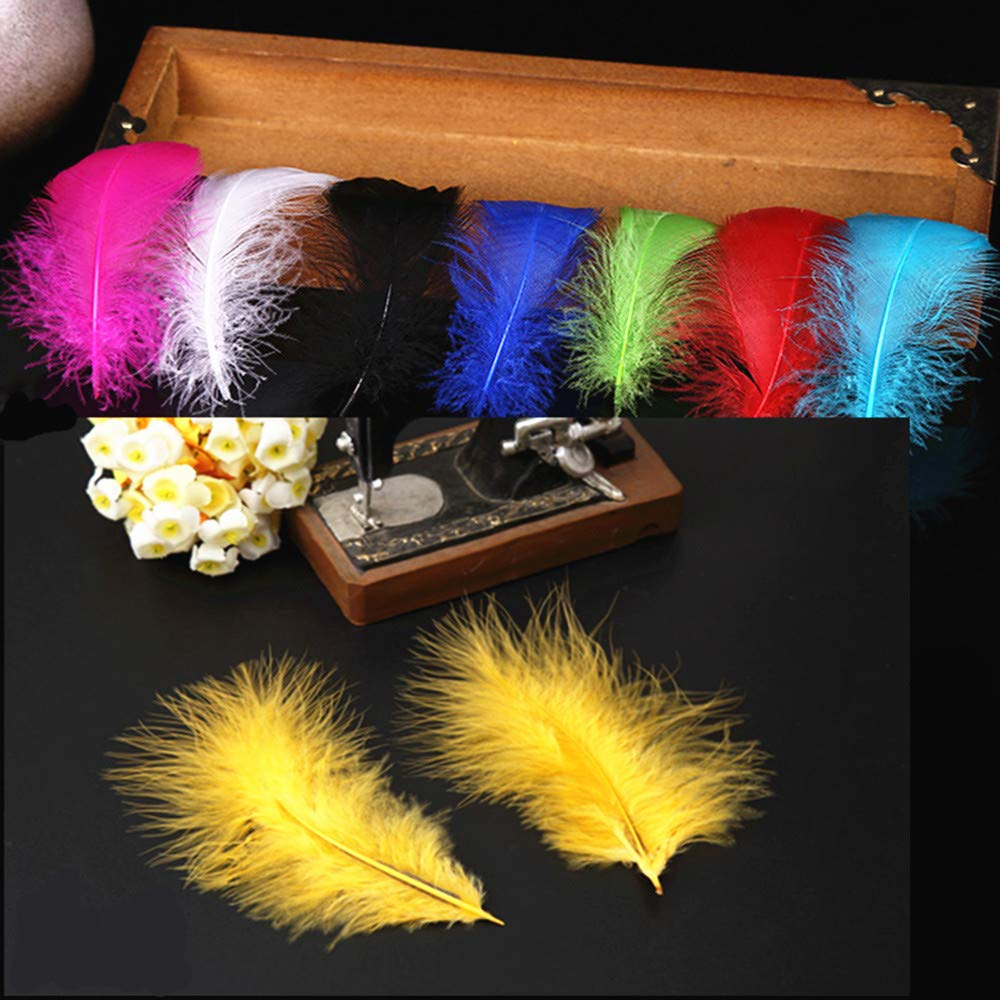 Tukcherry 250Pcs Decor Feathers,Colorful Feathers for DIY Craft Wedding Home Party Decorations