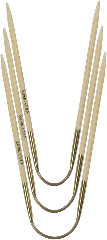 Addi CraSy Trio Jeu daiguilles flexibles en bambou 24 cm /à 2,75 mm