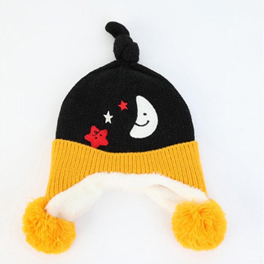 Baby Hat,Eenkula Cute Baby Toddler Ear Pattern Vertical Stripe Knitted Winter Warm Hat Cap