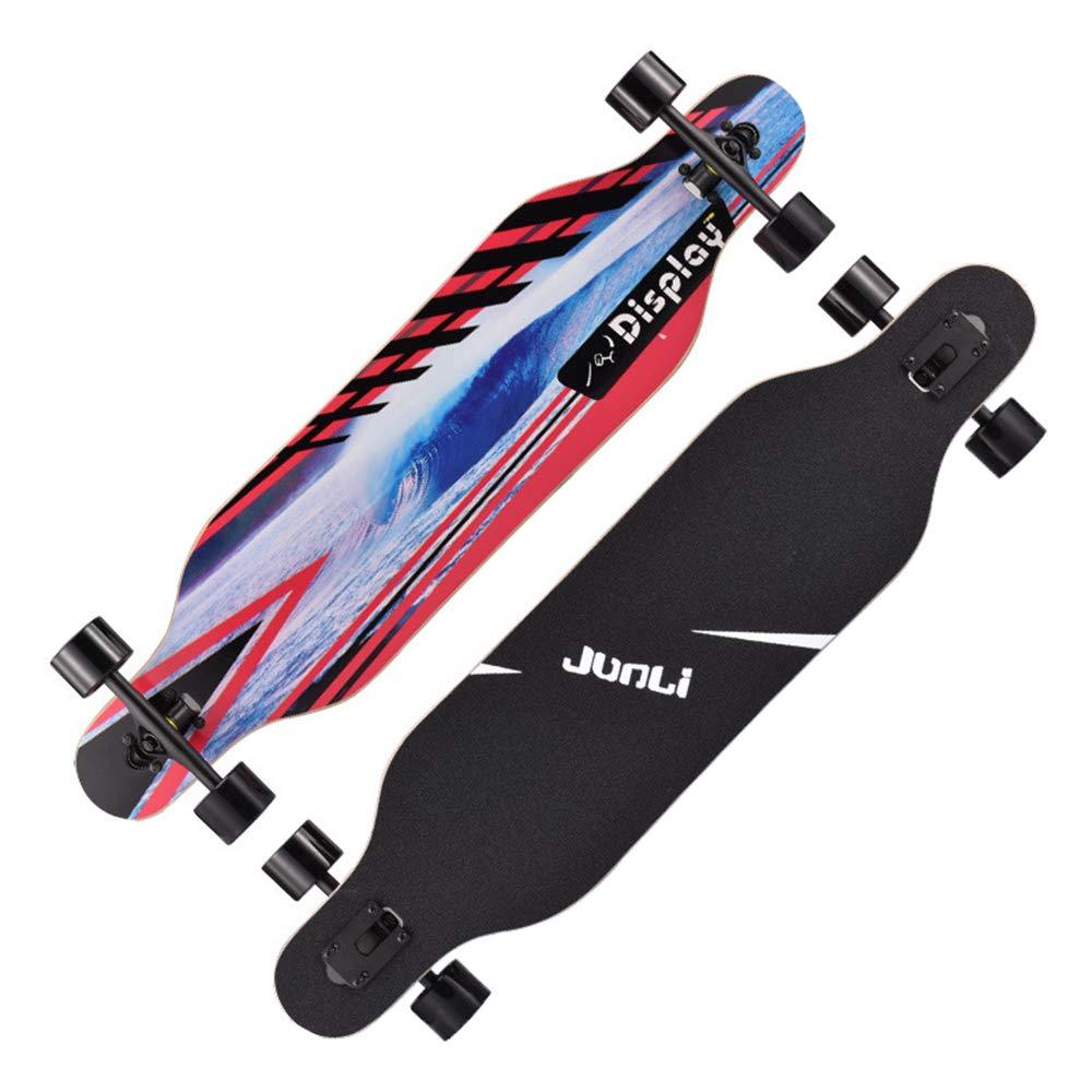 四輪バランススケートボード、男性と女性の大人のロードスケートボードのブラシストリートダンスロングボード、初心者のためのアウトドアギフト、ティーンエイジャー、大人ZDDAB B07MJV1M5B 4 4