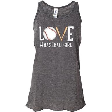 ad28857bd26da Love Baseball Tank top  baseballgirl Womens Tank - Charcoal Gray at ...