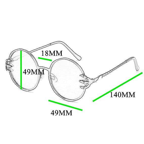 Amazon.com: SamuRita - Gafas de sol redondas góticas, punk ...