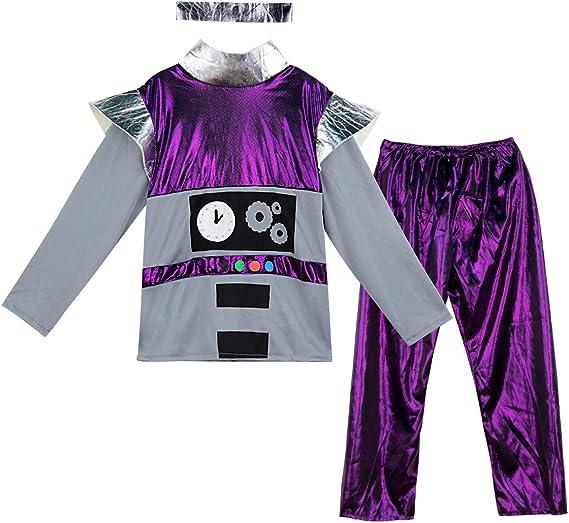 MOMBEBE COSLAND Disfraz Robot Niño Manga Larga (Robot, M): Amazon ...