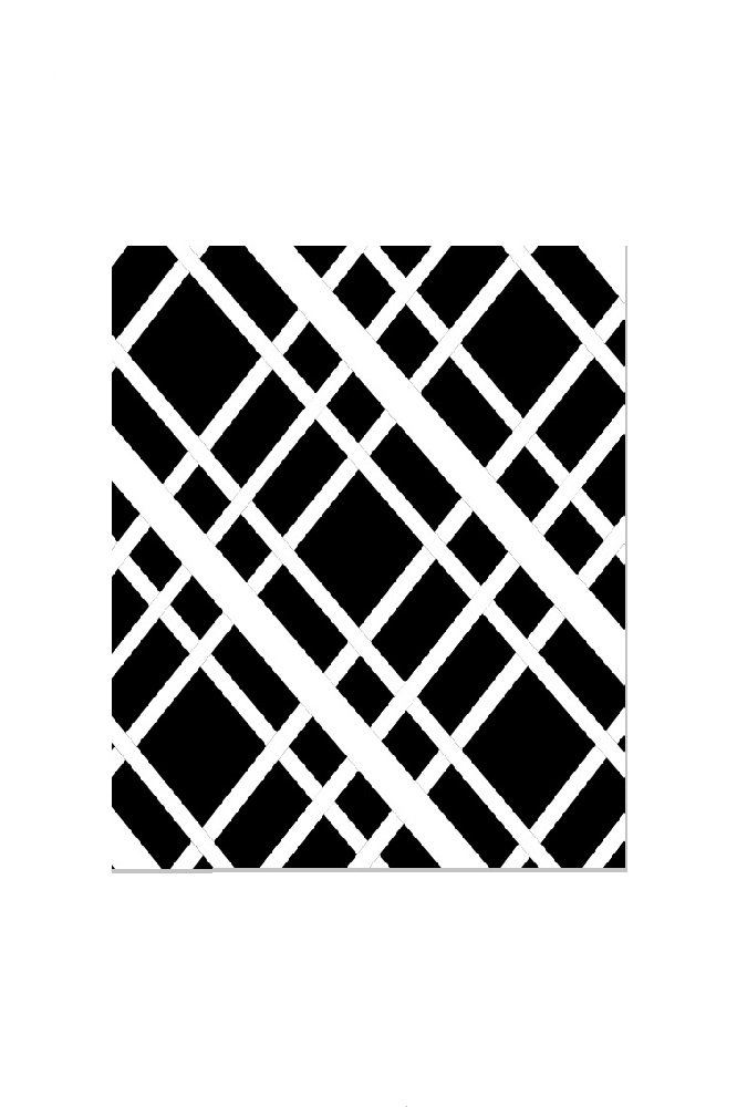 Bulletin-Memo Board and Picture Frame: Black and White (Small (15'' x 20''), Single Large Ribbon)