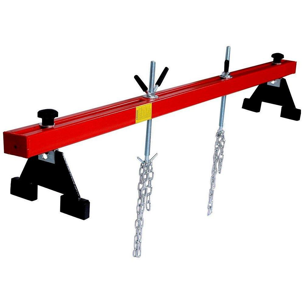 Engine Load Leveler Crank Support Bar Dual Hook Cross Hoist Motor 1100 Lbs Capacity - House Deals