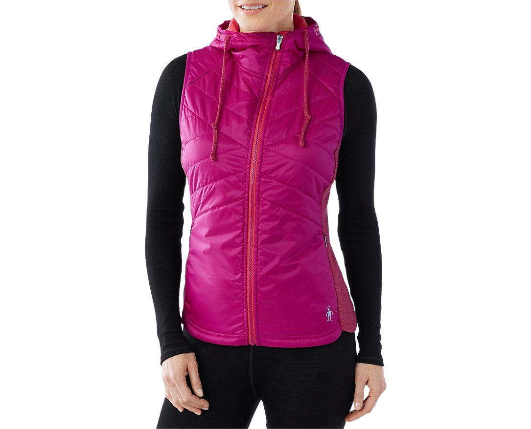 Smartwool Women's Double Propulsion 60 Hooded Vest (Berry) Small