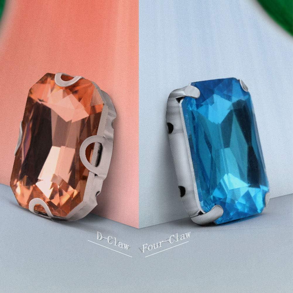 Strass Verre 50 PCS Cristal Coudre Sur La D/écoration Strass Pierres DIY Mariage Diamant Mixte Couleur /À Coudre Avec Griffe be Artisanat 1