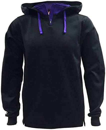 Majestic Men/'s Therma Base Fleece Pullover 1//4 Zip Hoodie Black A161