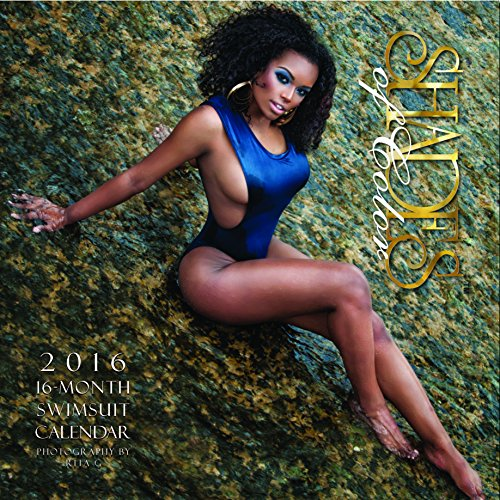 """Shades of Color 2016 African American Swimsuit 16 Month Calendar by Rita G, 12""""x12"""" (16SOC)"""