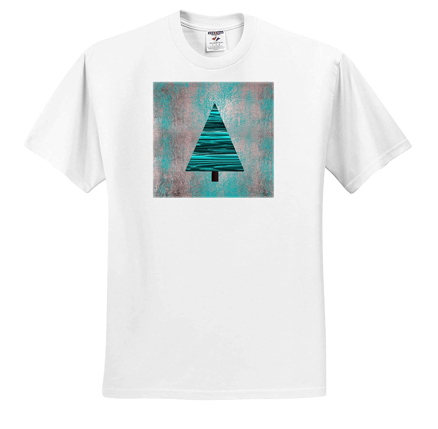 Christmas Tree Modern Style in Turquoise T-Shirts 3dRose Andrea Haase Christmas Illustration