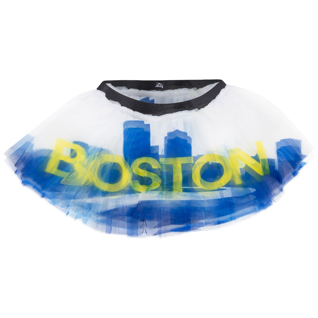 Gone For a Run Runners Printed Tutu by Lightweight | One Size Fits Most | colorful Running Skirts | Boston City Skyline